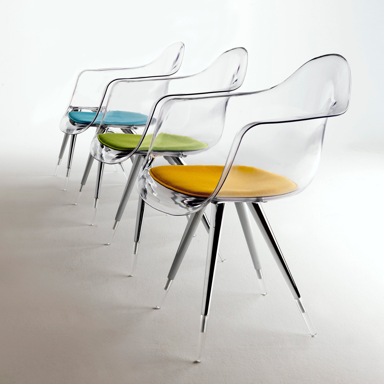 angel base chair transparant arm shell clear chair no pad