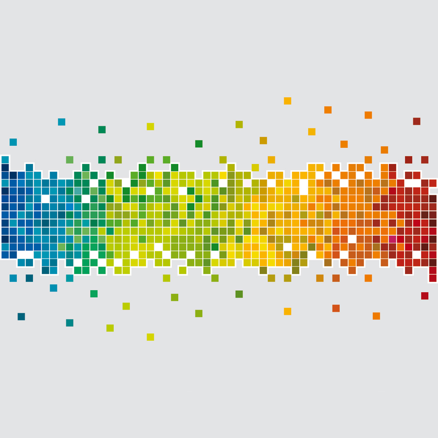 Pixel rainbow small 42 5 x 23 6 mantiburi wall for Scuola web design