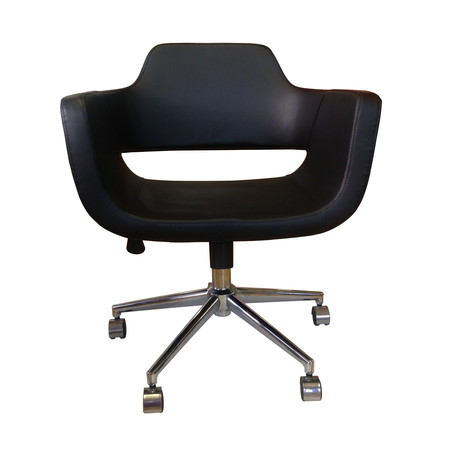 Minetta Office Chair // Black Eco Leather