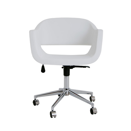Cornelia Office Chair (White Eco Leather)
