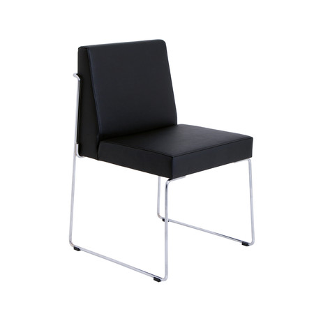 Astoria Dining Chair // Eco Leather (Black)
