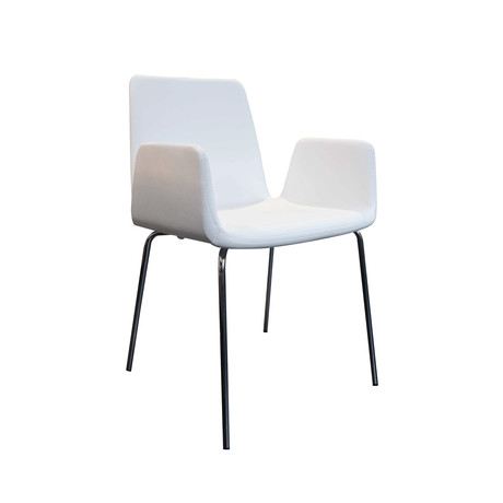 Duane Chair // Black Eco Leather (White Eco Leather)
