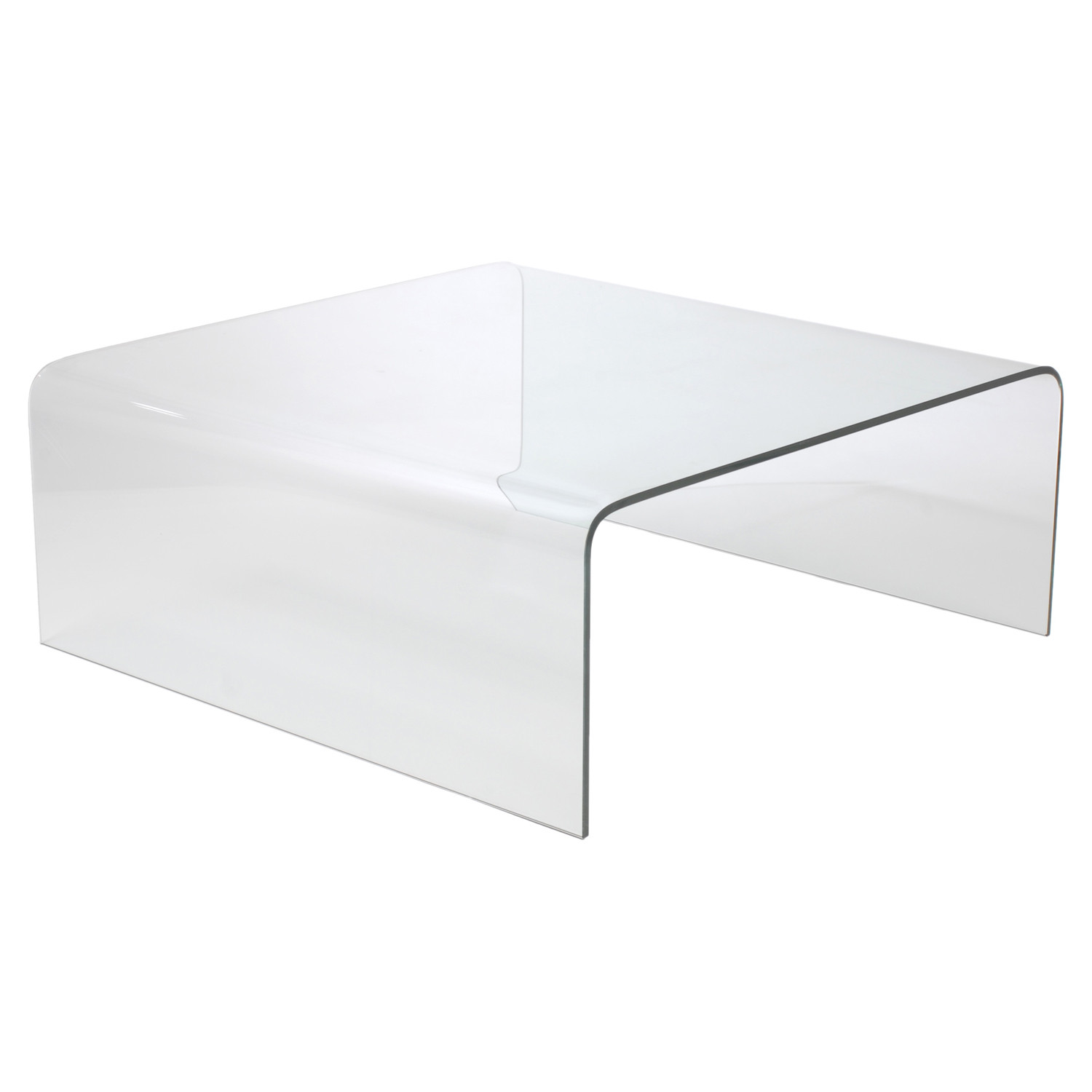 Bent Glass Coffee Table Affordably Modern Touch Of Modern