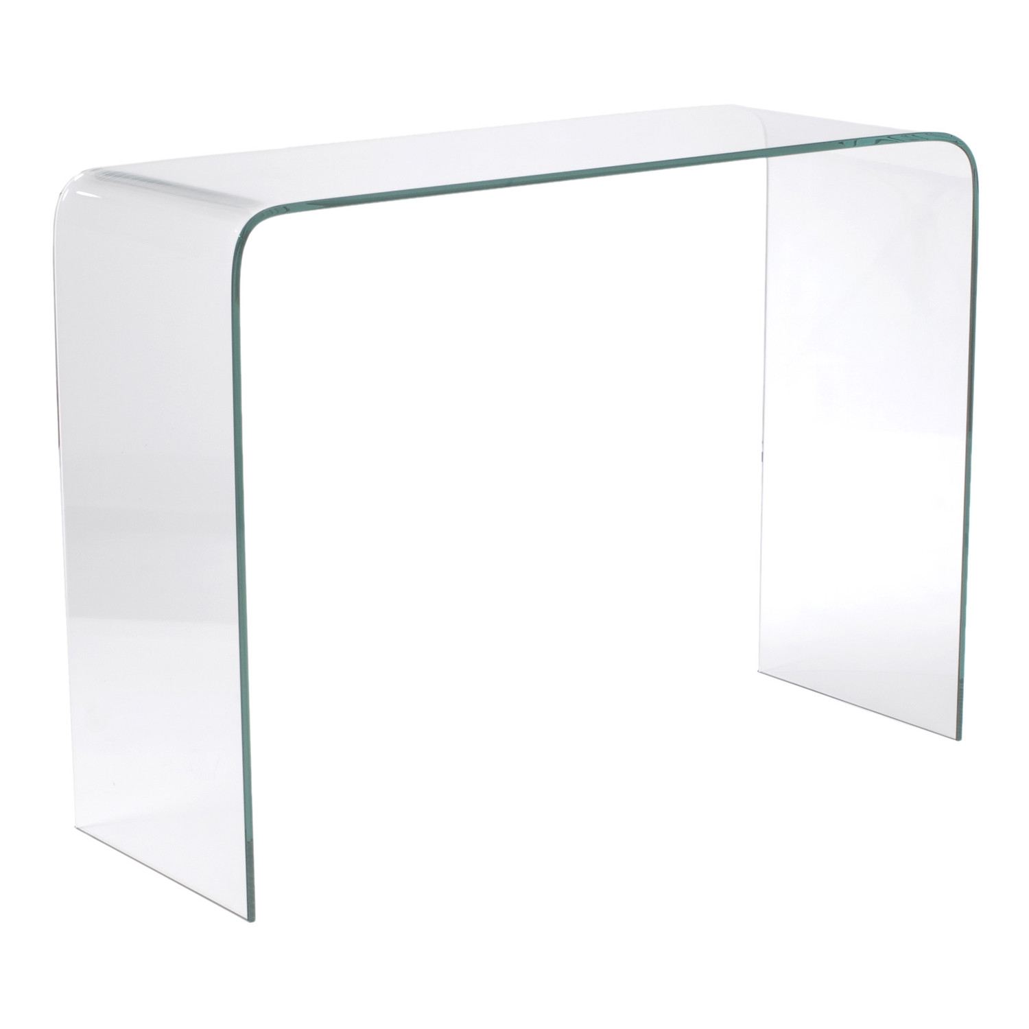 bent glass console table  affordably modern  touch of modern. bent glass console table