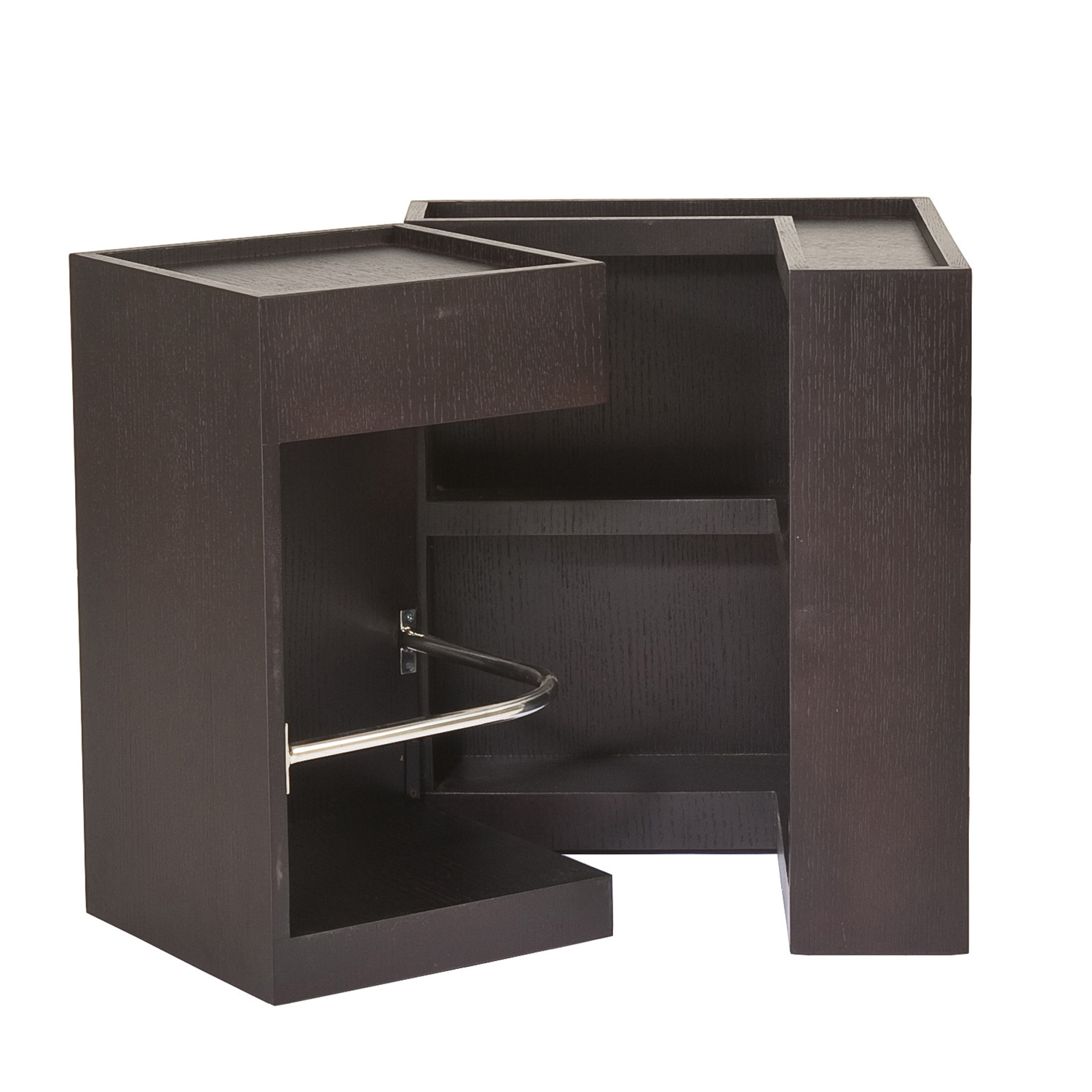 Hidden bar side table affordably modern touch of modern for 12 bar blues table