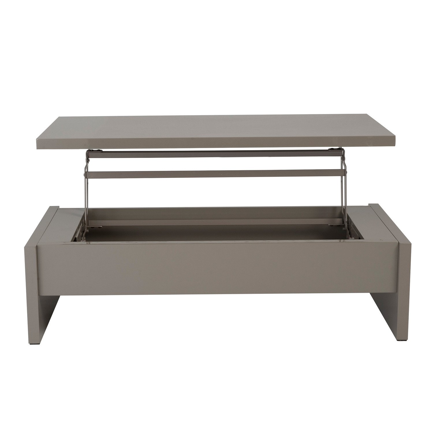 Multi-Level Storage Coffee Table (Latte Lacquer