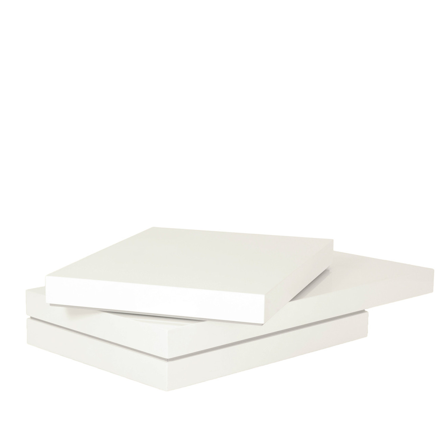 Mdf Cheap Price Coffee Table White High Gloss Center Table: Stacked Coffee Table