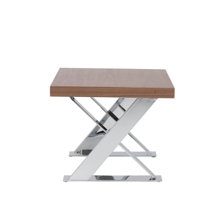 X-Base Coffee Table (Walnut/Chrome) - Affordably Modern ...