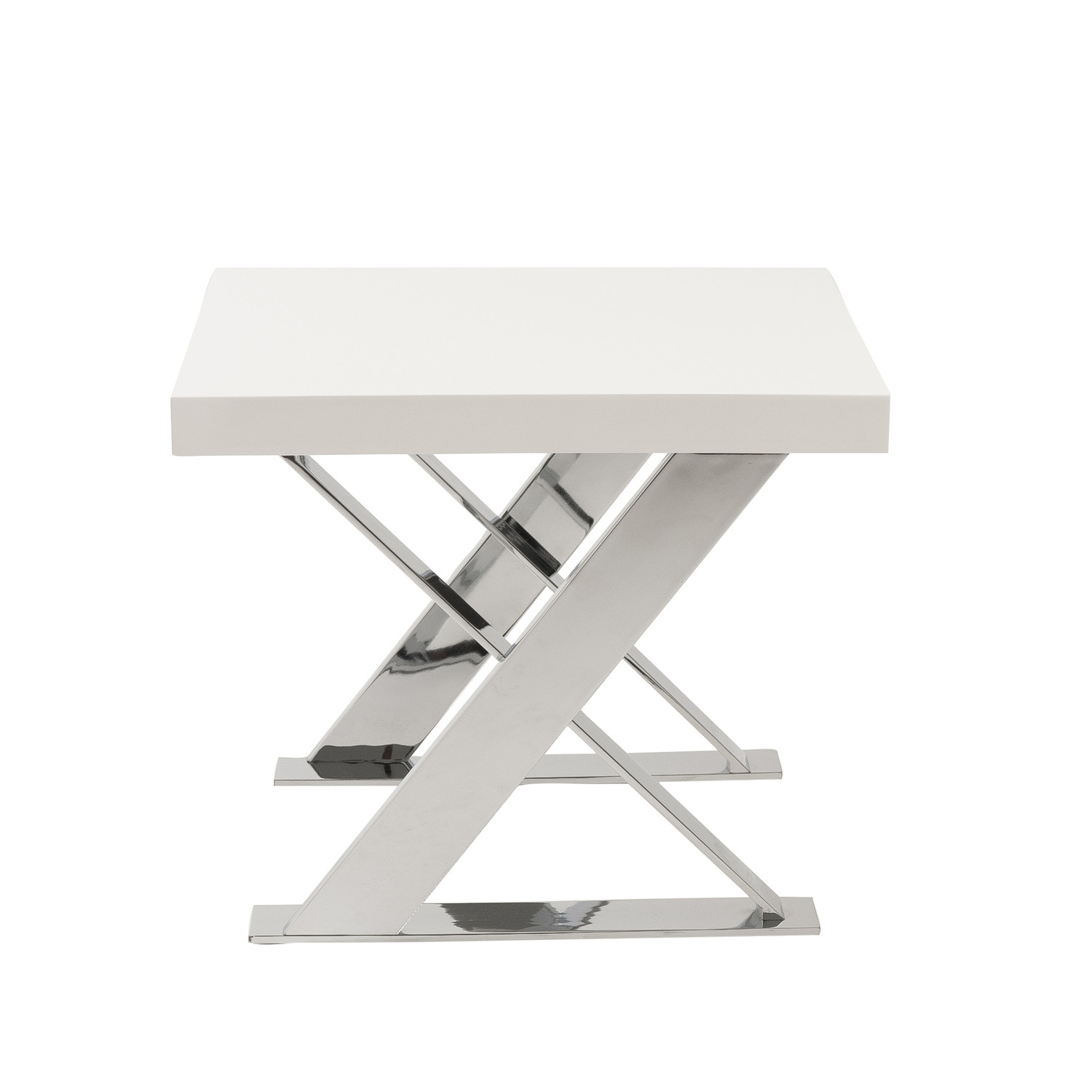 X base side table walnut chrome affordably modern for Side table base