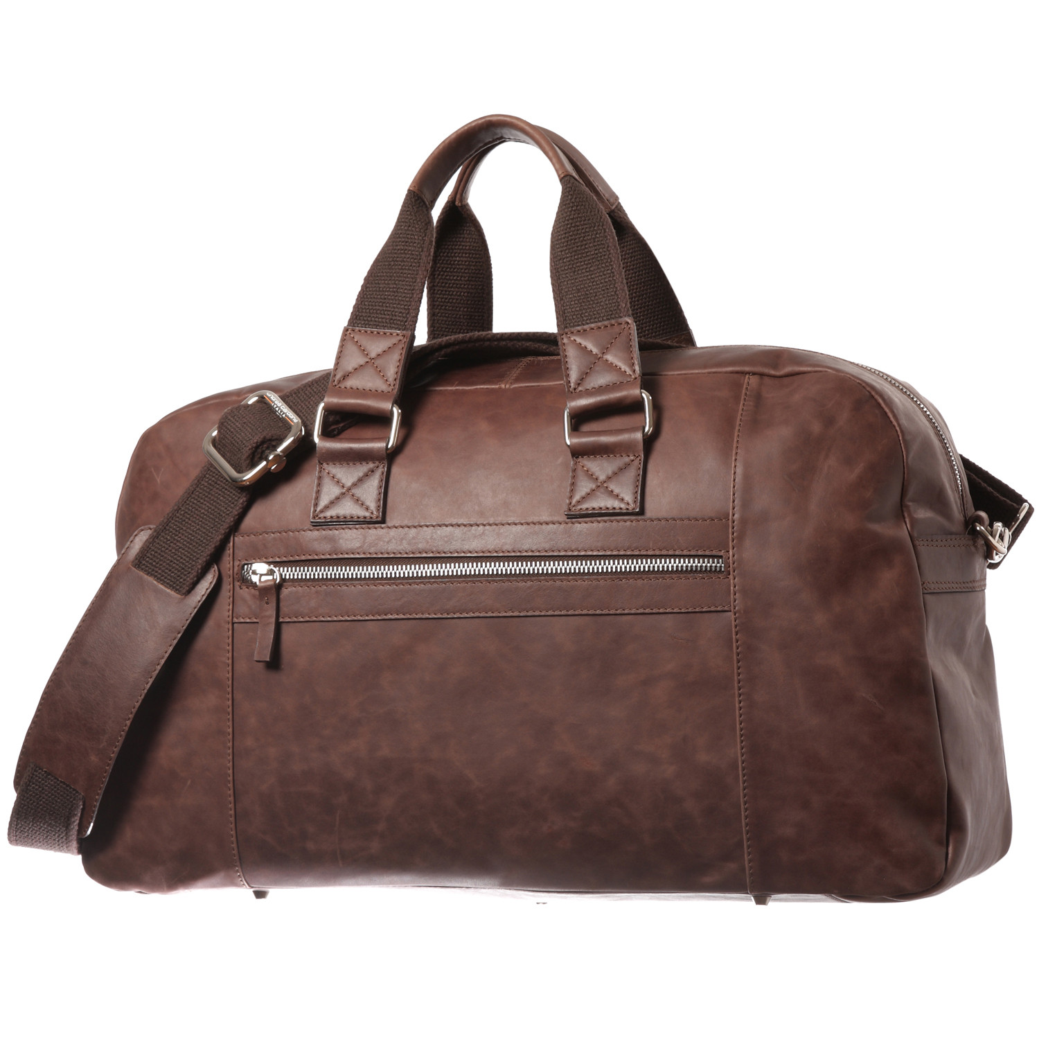 Vintage Leather Overnight Bag - Andrea Cardone Italia - Touch of ...