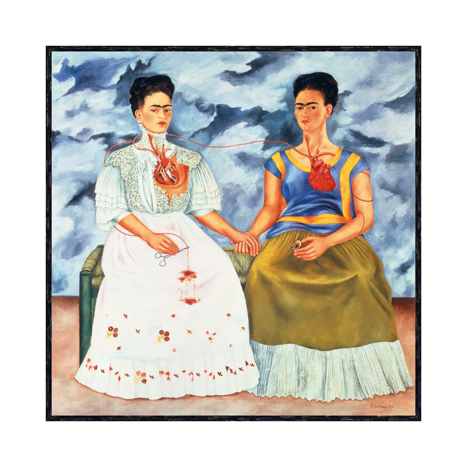 las dos fridas the two fridas [ k ] frida kahlo - two fridas (1939) (possible allusion to the 'gabrielle d'estrées and one of her sisters') done  the weekly flickr.