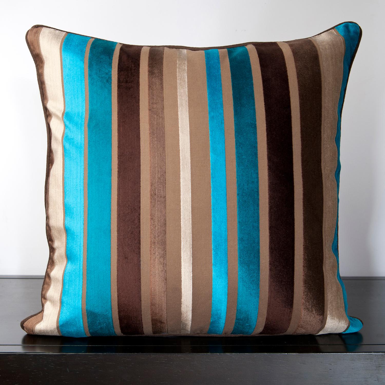 Brown and teal throw pillows - Pillow Kit Driftwood Brown Teal Blue Ocean Blue Espresso 18 L X 2 W X 18 H Down Fill Surya Pillows Touch Of Modern