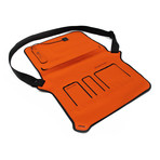 Flat Solar Messenger Bag // Orange