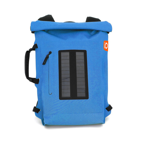 Solar Backpack Roll Top // Turquoise
