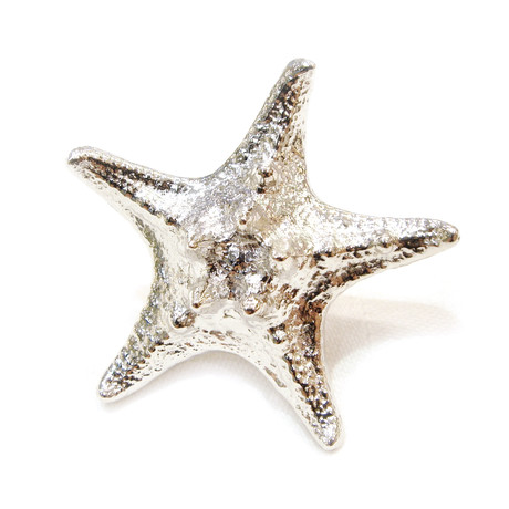 silver starfish ring size 5 touch of modern
