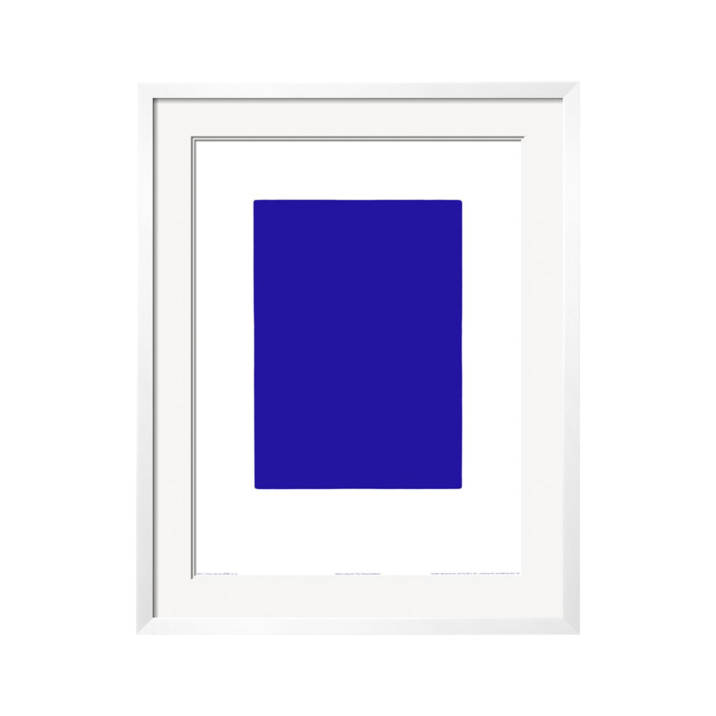 Untitled Blue Monochrome C 1961 Ikb73 White Frame