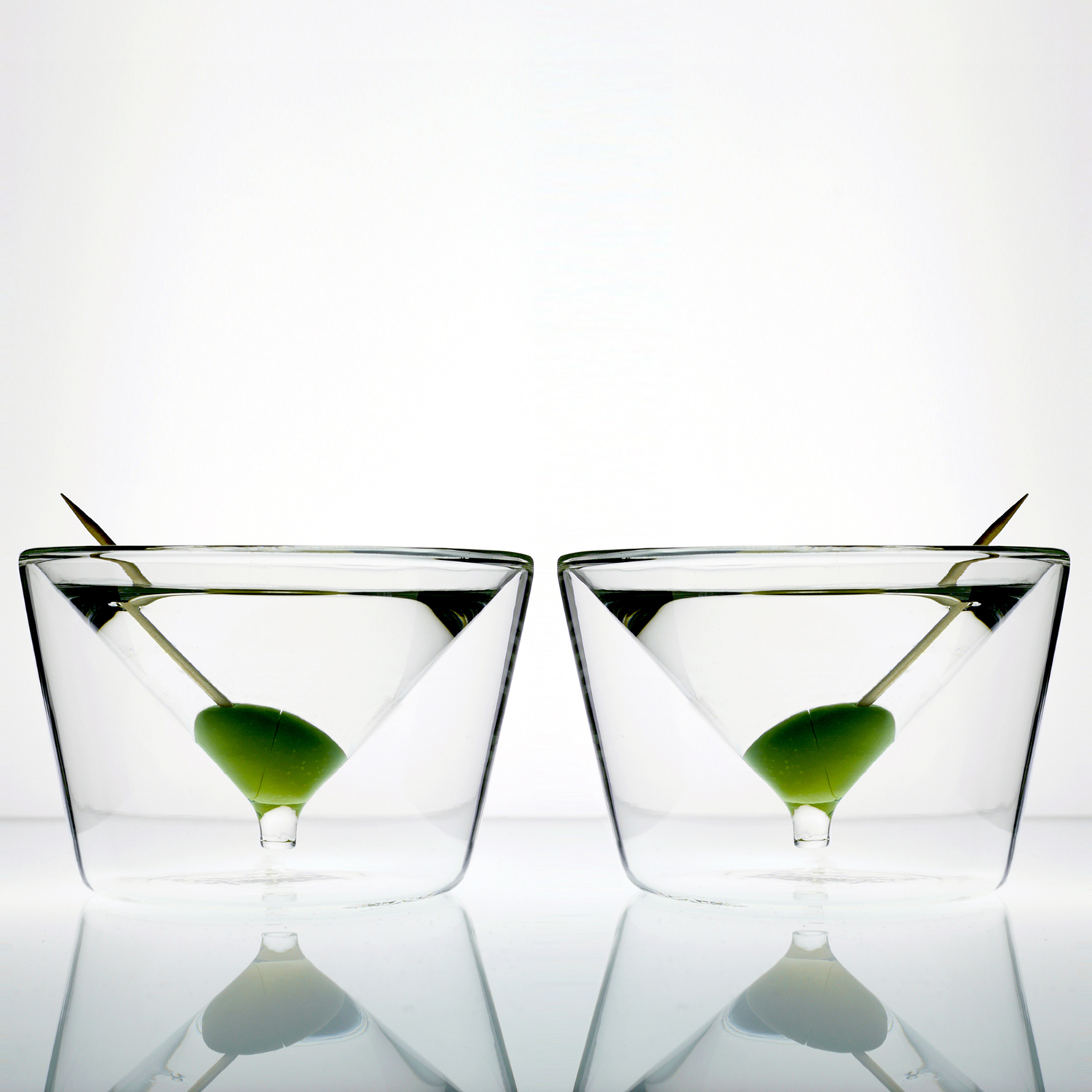 martini glasses set of 2 insideout glasses byamt touch of modern