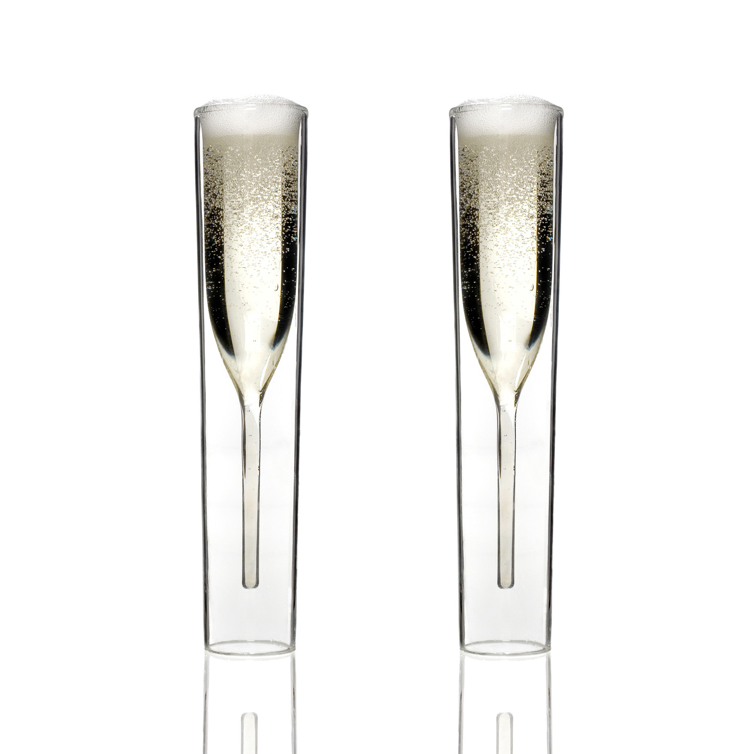 champagne glasses  set of   insideout glasses byamt  touch of  - champagne glasses  set of
