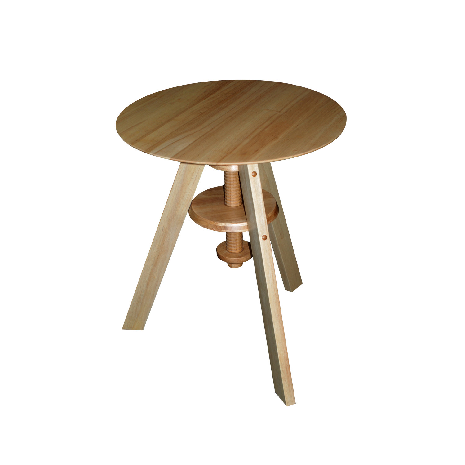 Rubber wood round table