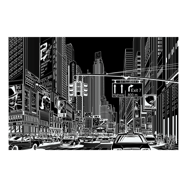 Cartoon City Black And White