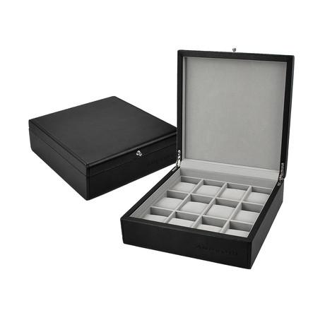 Leatherette 12-Slot Collector's Watch Box // Black (Black)