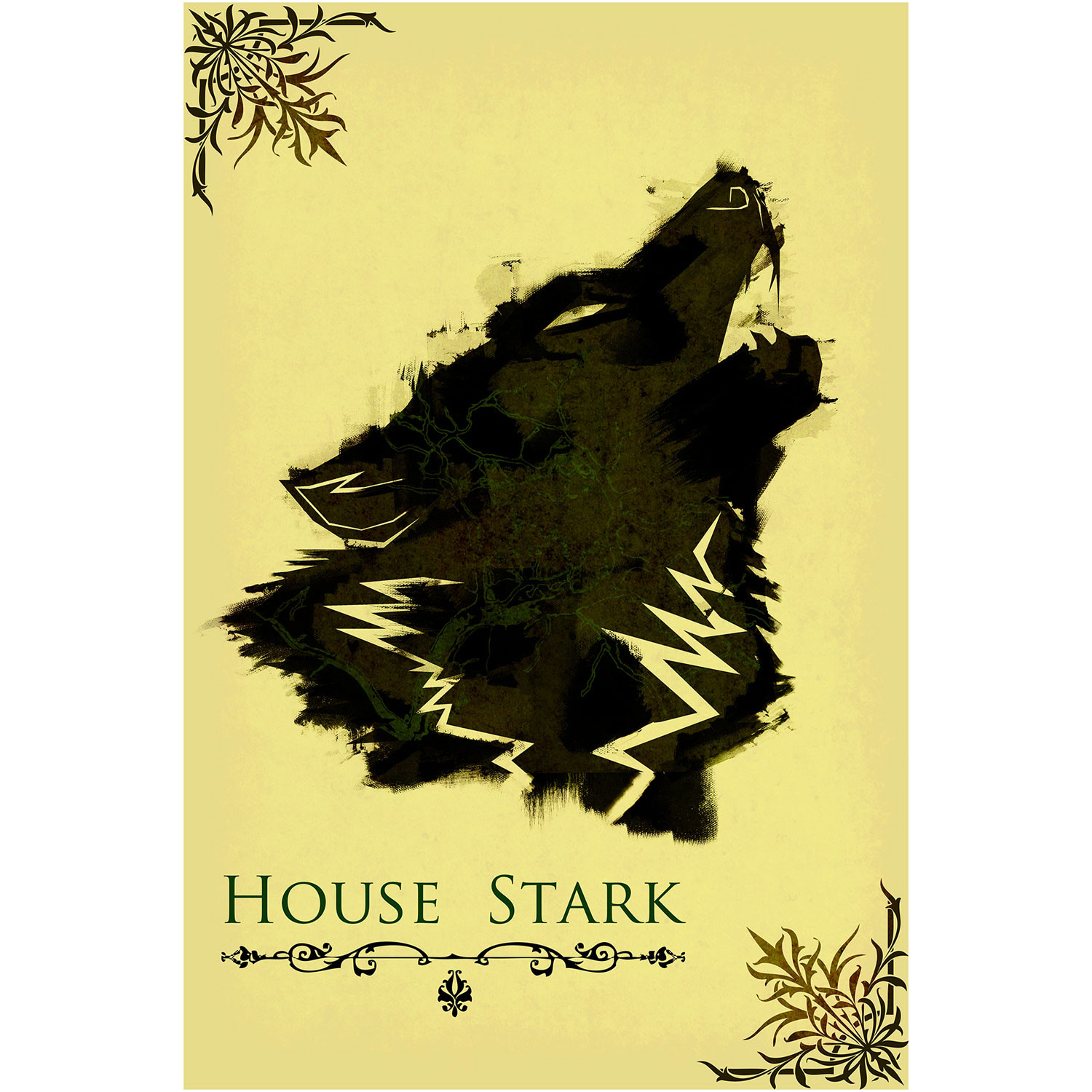 Of Thrones Movie Poster House Stark 12 X
