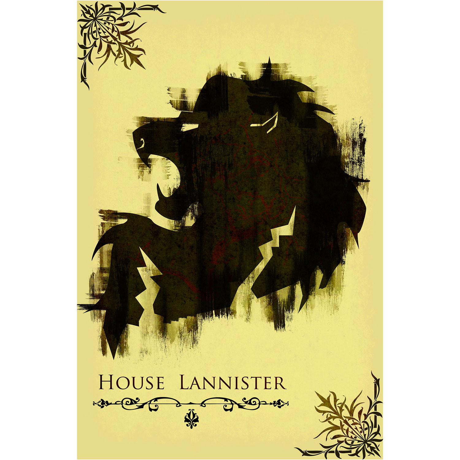 Of Thrones Movie Poster House Lannister 12 X