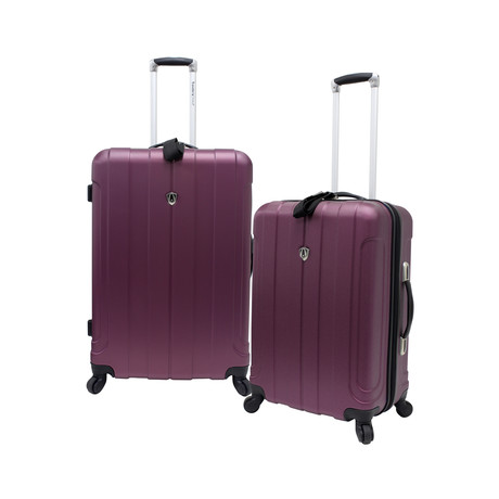 Cambridge 2 Piece Hardshell Spinner Set (Plum)