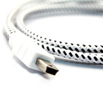 Mini USB Collective Cable (Double Stripe (Red, Blue, Black))