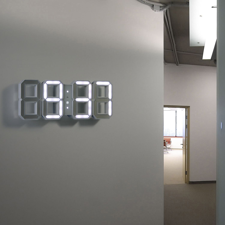 Modern White Clock Part - 47: Digital LED Clock // White + White