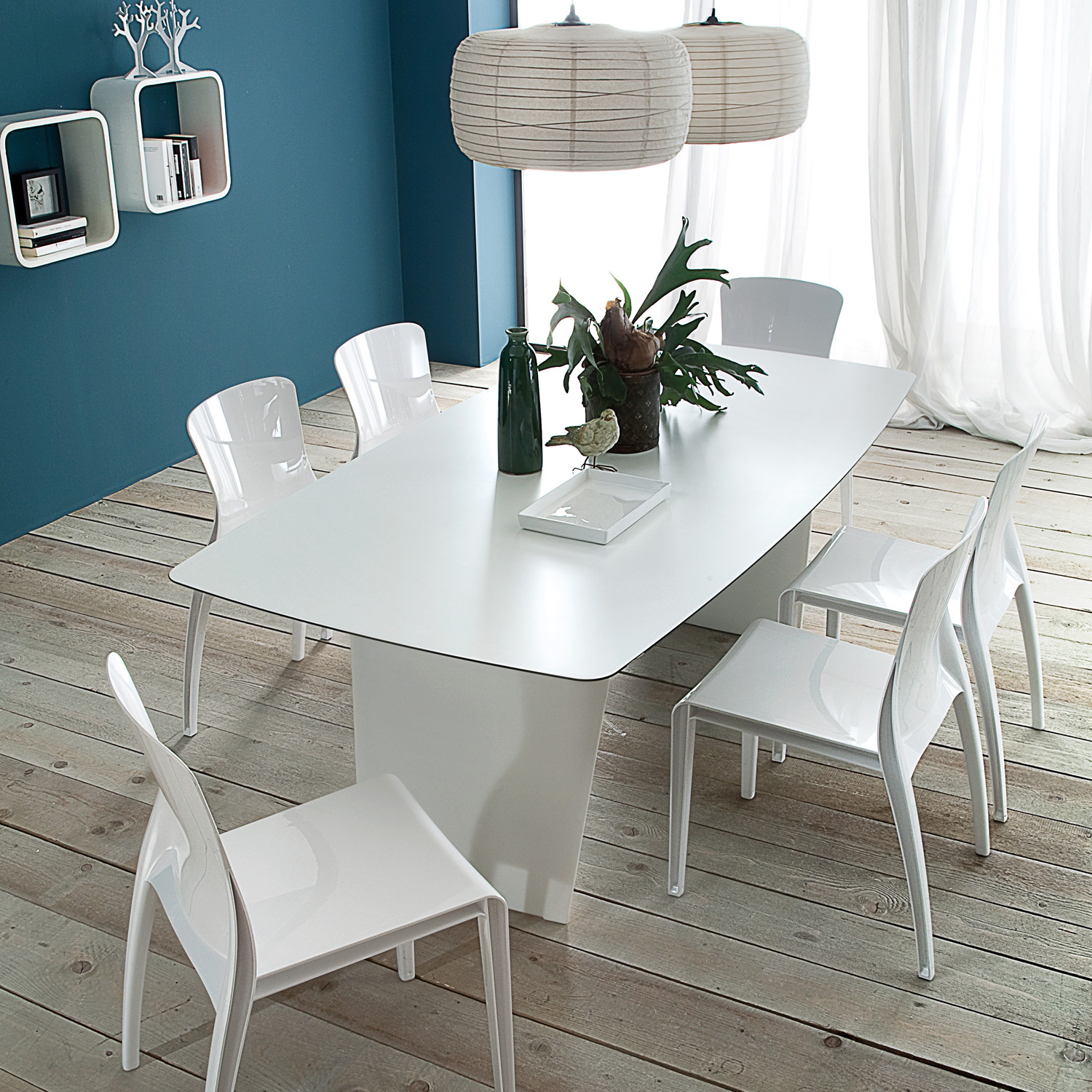 Stone table domitalia dining touch of modern for Domitalia stone t dining table