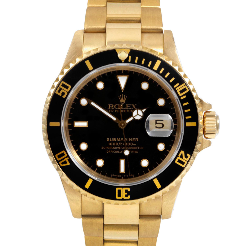 Rolex Submariner 18K Yellow Gold // c. 1990's - Vintage ...