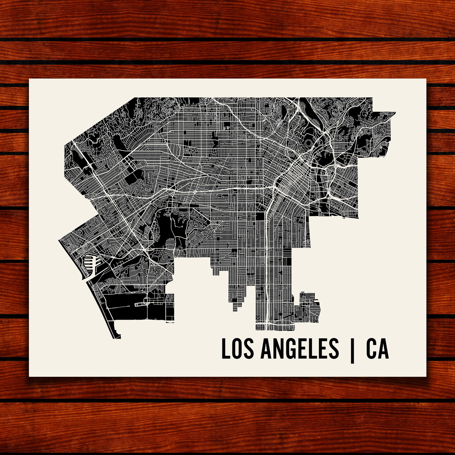 Los Angeles Map Art Print Mr City Printing Touch Of Modern - Los angeles map by city