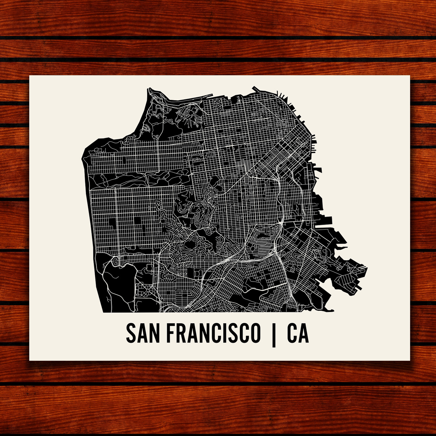 San Francisco Map Art Print Mr