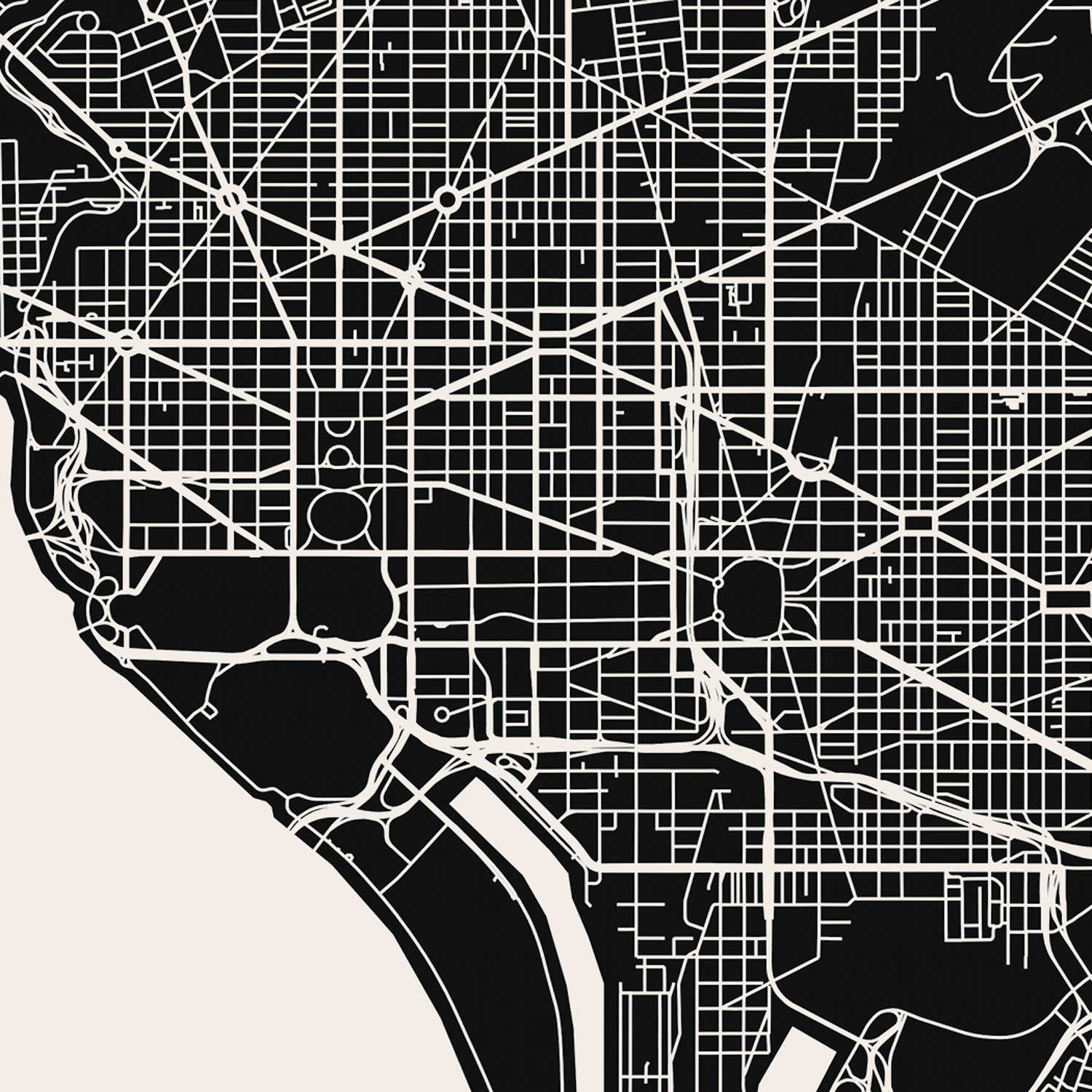 Washington, D.C. Map Art Print   Mr City Printing   Touch of Modern