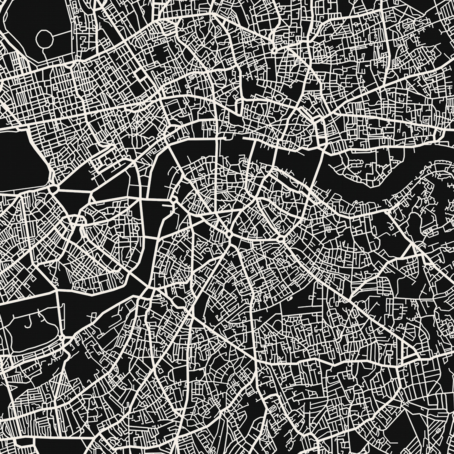 London Map Art Print Mr City Printing Touch Of Modern
