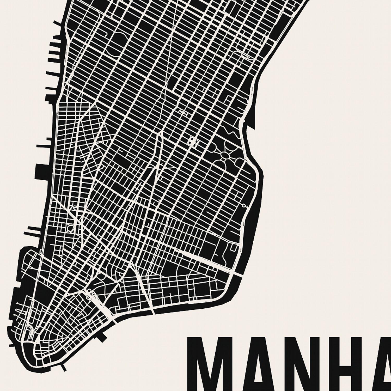 Manhattan Map Art Print Mr City Printing Touch of Modern