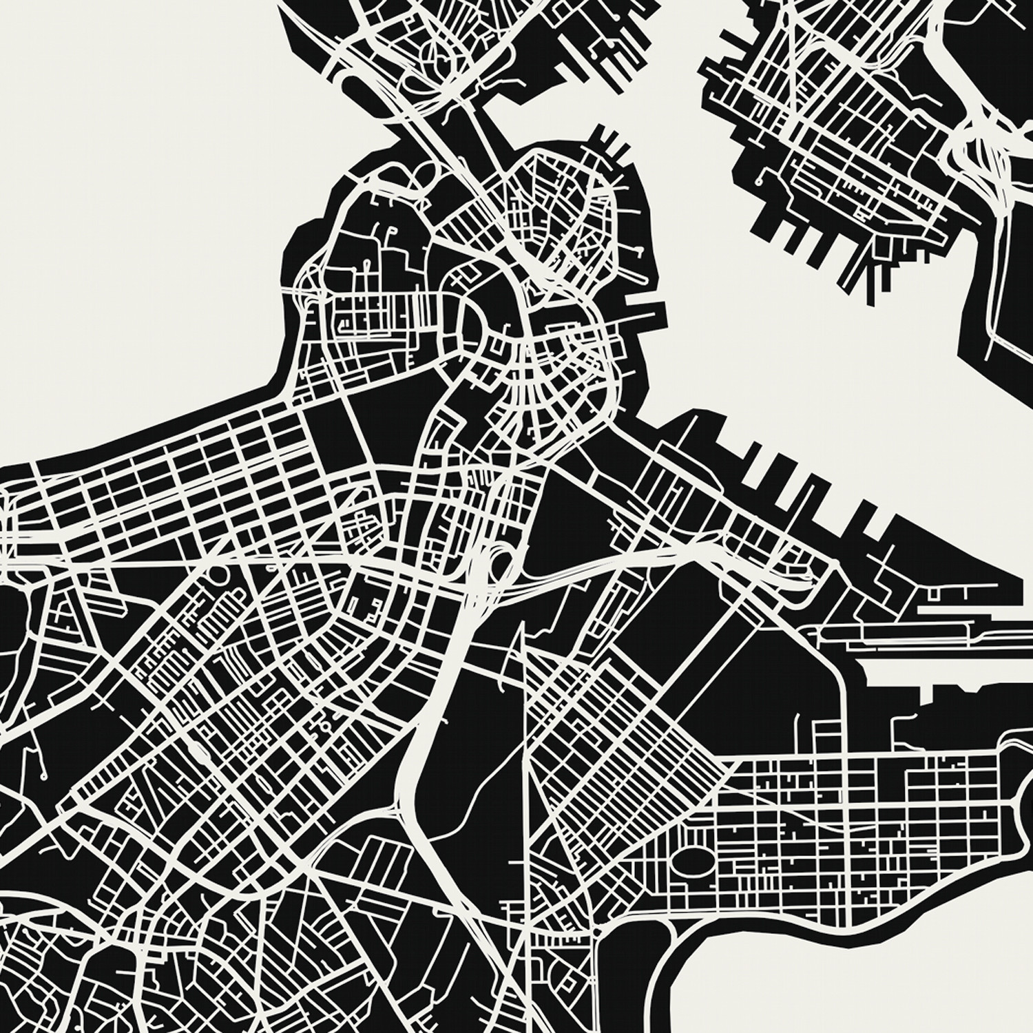 Boston Map Art Print Mr City Printing Touch Of Modern