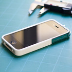 Leverage iPhone 4/4S Case // White, Chrome