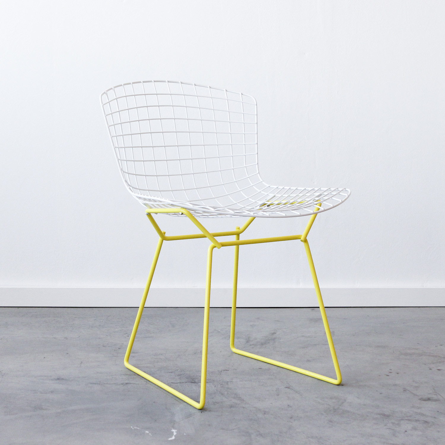 Knoll Bertoia Side Chair White Yellow