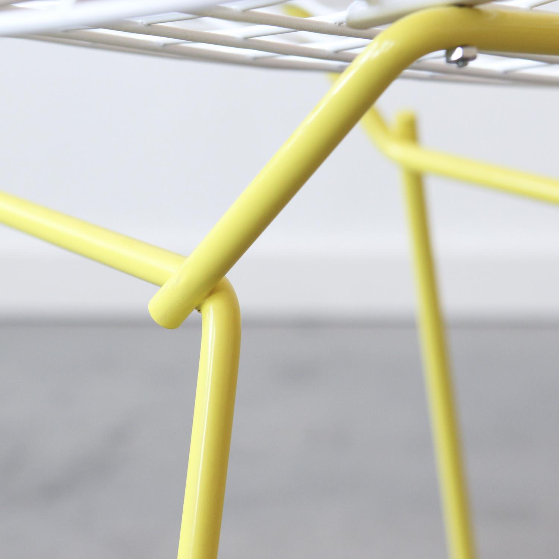 Bertoia side chair white - Knoll Bertoia Side Chair White Yellow