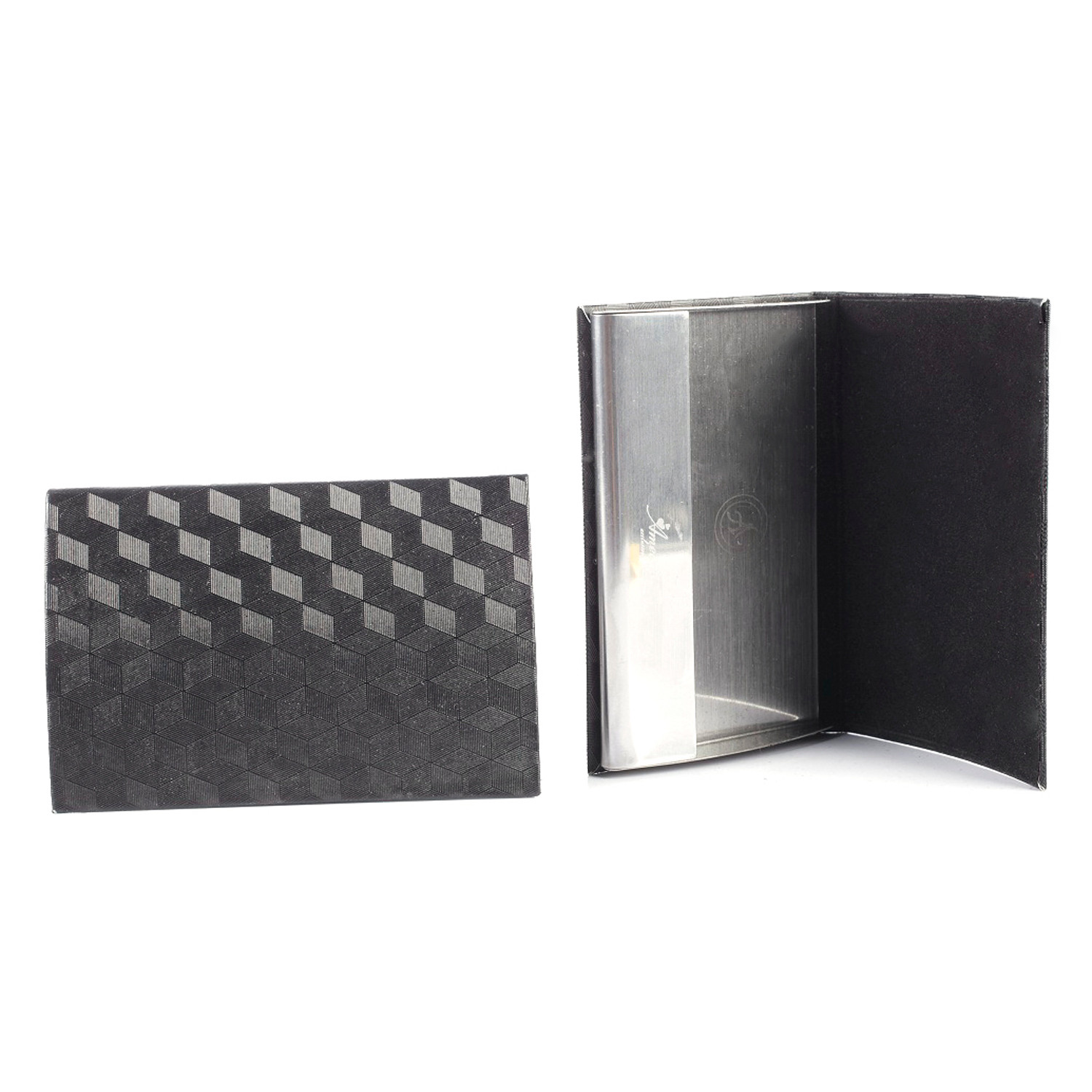 business card holder black vinyl amedeo touch of modern