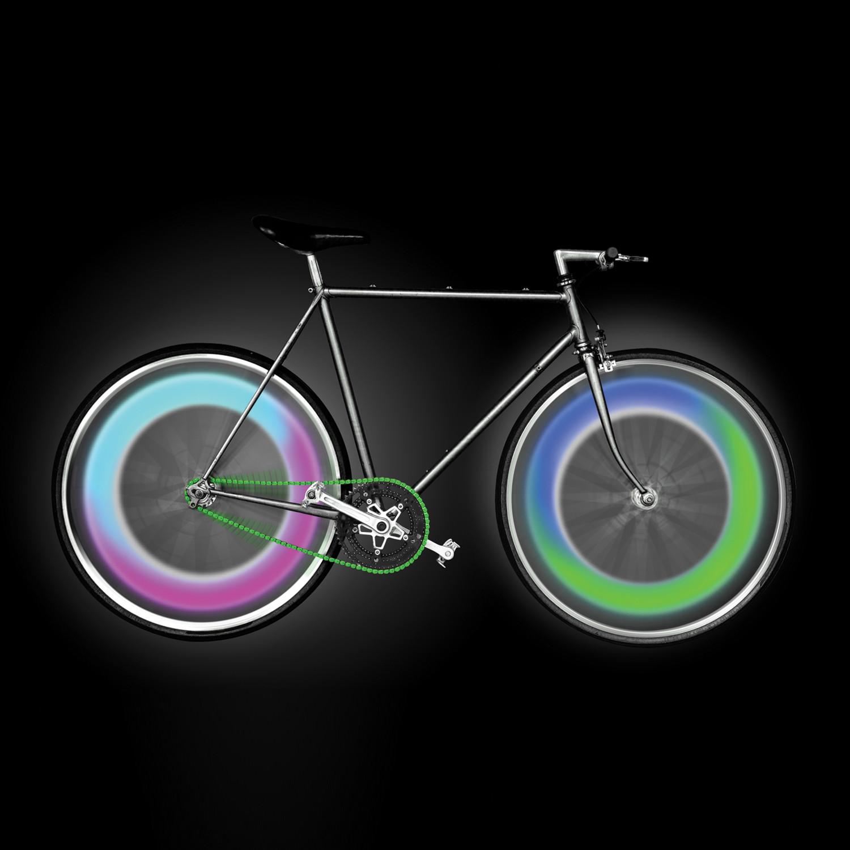 Multi Color Bike Wheel LED Mood Lights Mathmos Touch of Modern