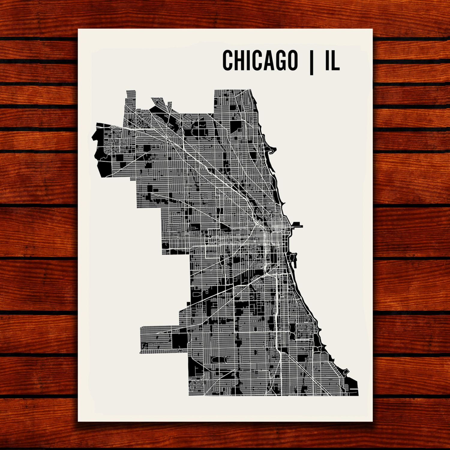Chicago Map Art Print   Mr City Printing   Touch of Modern