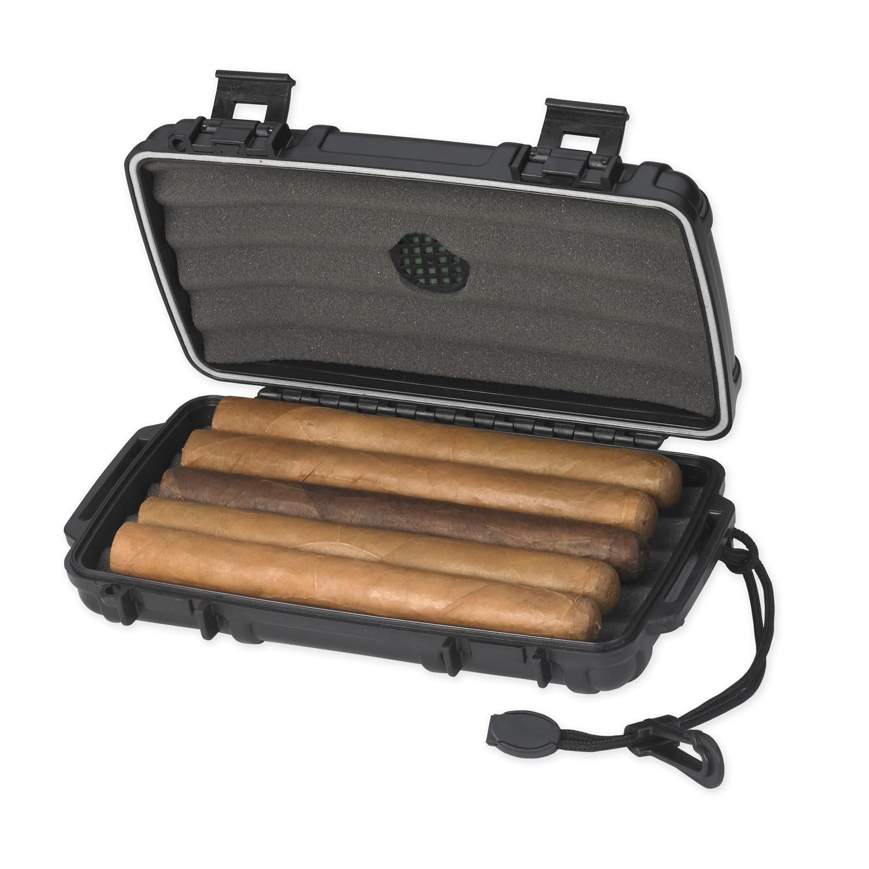 Lotus Travel Humidor Gift Set Humidor Lighter Amp Cigar Cutter Brushed Chrome Lotus Black