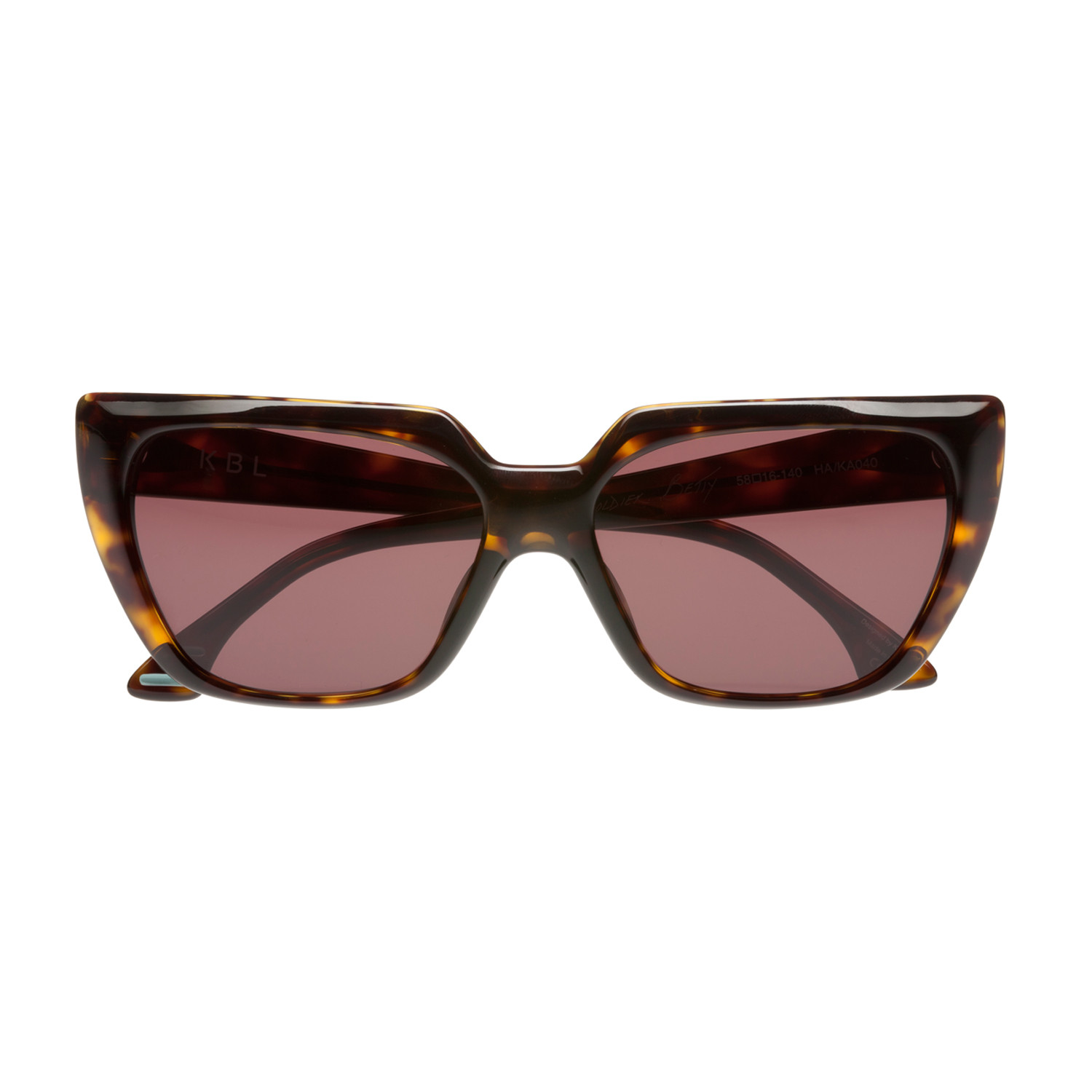 ac0be16808 Soldier Betty (FRAME  Matte Transparent Red  LENS  Brown Polarized ...