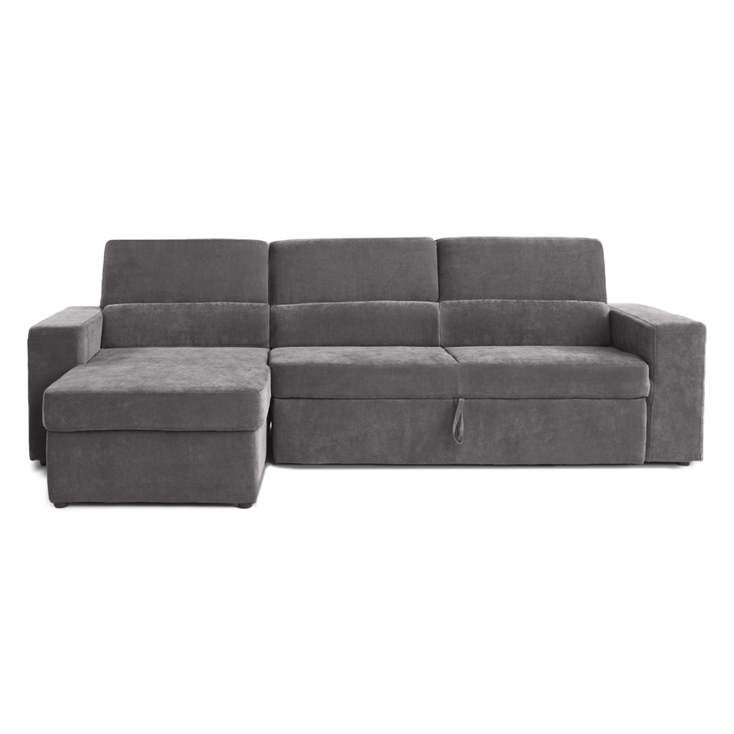 Clubber Sleeper Sectional Left Chaise Black Brown