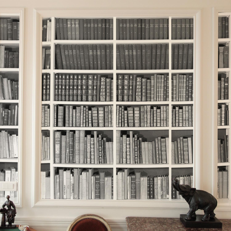 Trompe Oeil Bibliotheque #7: Trompe Lu0027oeil Bibliotheque // Black + White