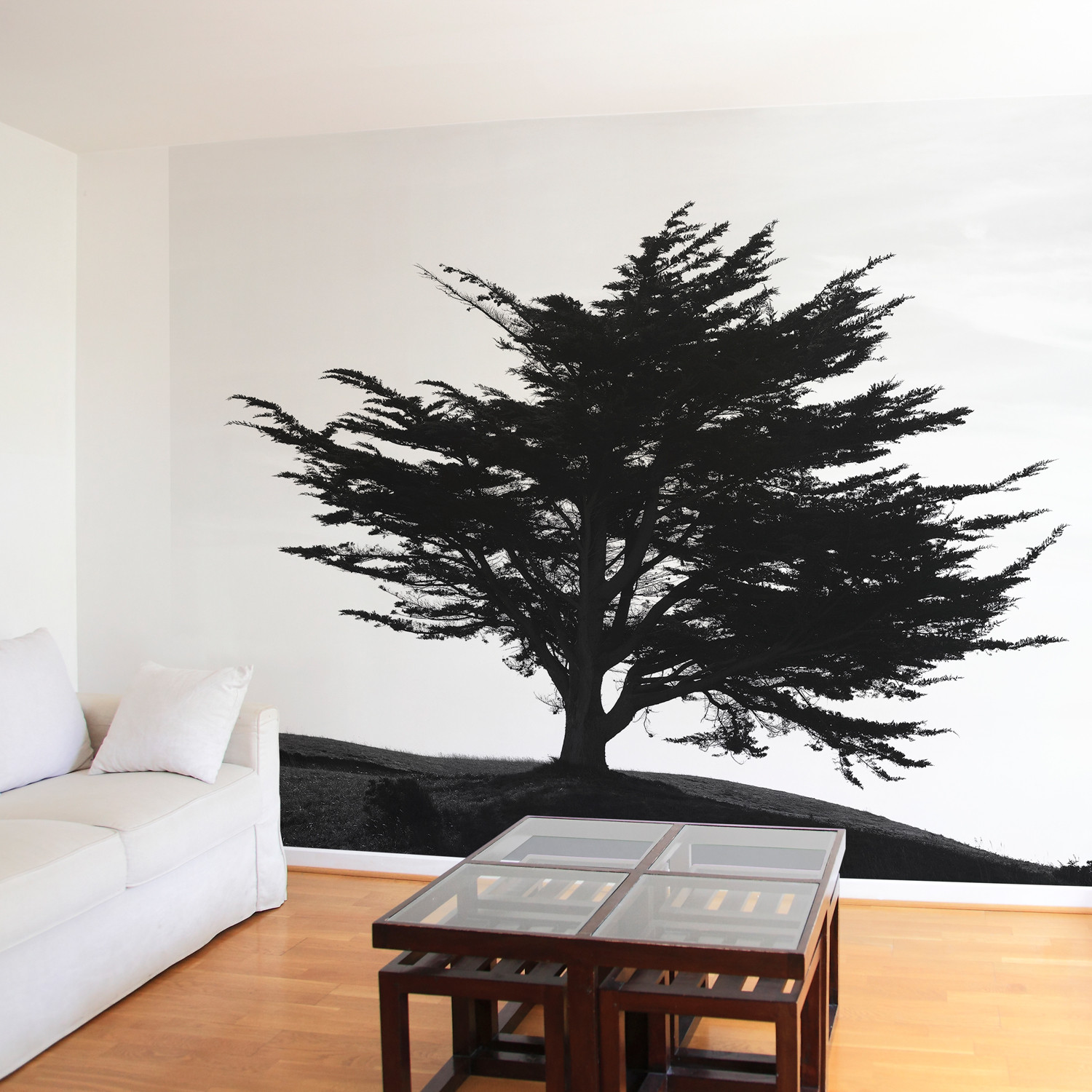papier peint arbre myst rieux ohmywall touch of modern. Black Bedroom Furniture Sets. Home Design Ideas