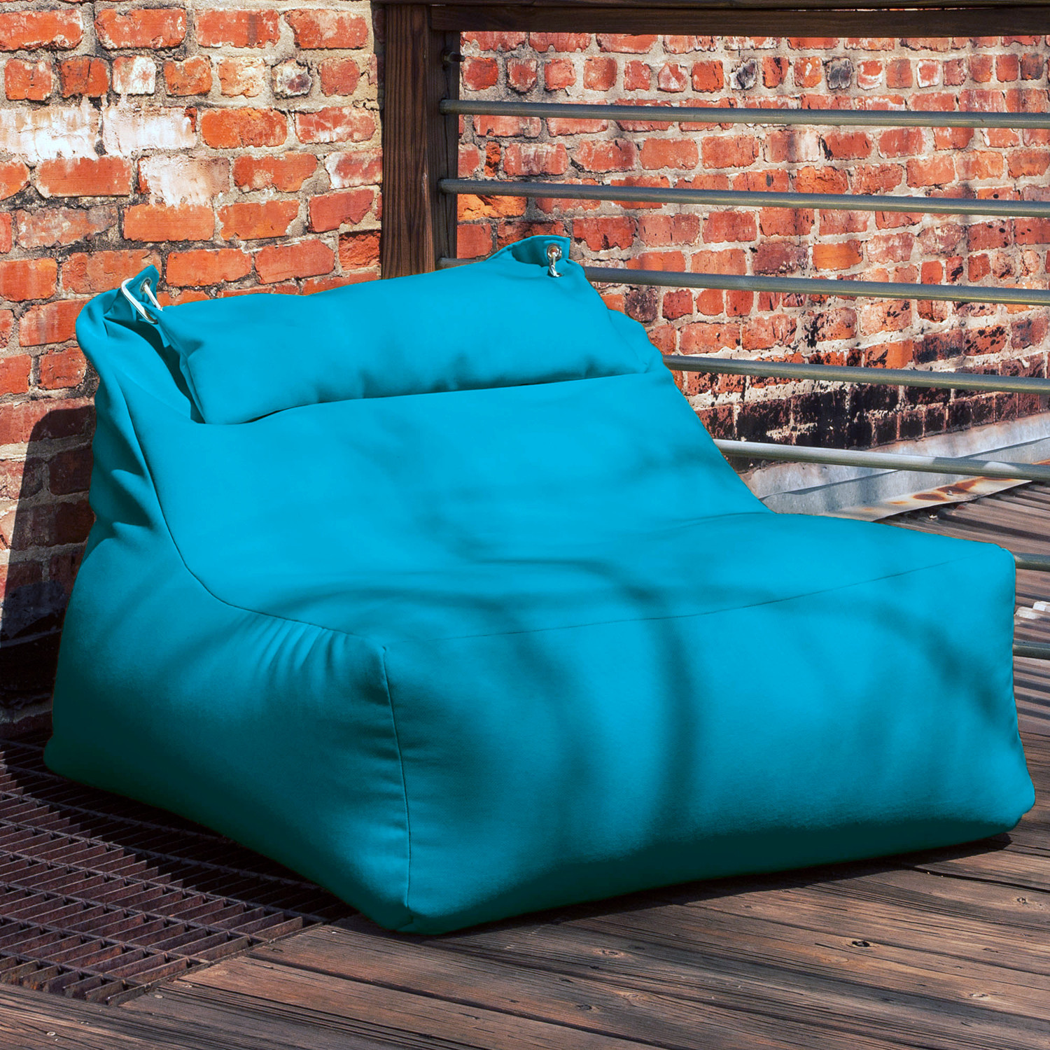 Ponce Outdoor Bean Bag Lounger Aqua Jaxx Outdoor Touch of Modern